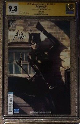 "Catwoman #1 variant__CGC 9.8 SS__Signed by cover artist Stanley ""Artgerm"" Lau"