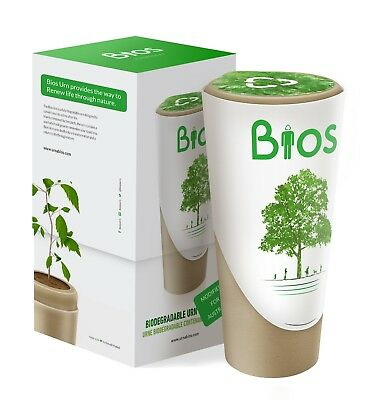 New 100% Biodegradable Natural Burial Urn for Ashes Creates a Living Memorial