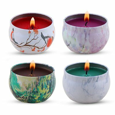 Scented Candles Lavender Rose Tea Tree and Peppermint Candle Soy Wax 4 Pieces