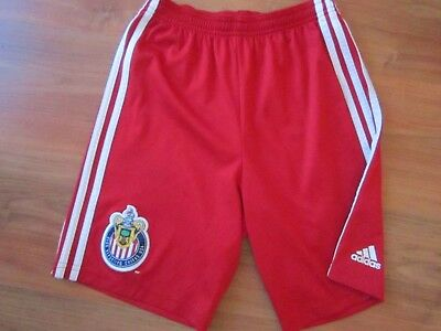 Boys RARE Red DEPORTIVO CHIVAS USA FOOTBALL SHORTS Shirt (age11-12) *GREAT COND*