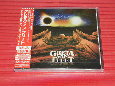 2018 JAPAN CD GRETA VAN FLEET Anthem Of The Peaceful Army with Bonus Tracks