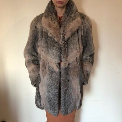 Real Rabbit Fur Rare and unusual Color Vintage fits sizes small to large