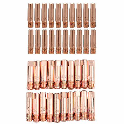20×Copper Contact Tip for 15AK MIG/MAG Welding Torch Consumables 0.8/1.0mm