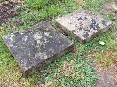 Pair Reclaimed Victorian Capping Stones