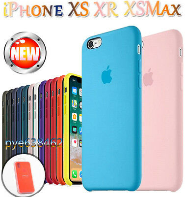 Genuine Official Shockproof Silicone Cover for iPhone XS Max XR 8 7 6s Plus Case