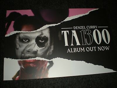 POSTER Lot by DENZEL CURRY ta13OO & promo ta1300 for the album cd #