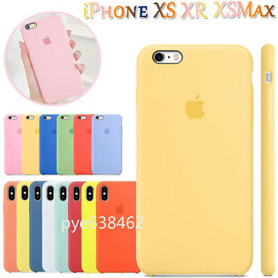 Genuine Official Silicone Slim Skin Cover for iPhone XS Max XR 8 7 6s Plus Case
