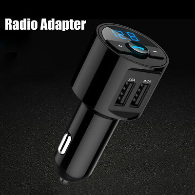 BLUETOOTH AUTO TRASMETTITORE FM ricevitore WIRELESS ADATTATORE MP3 Player audio