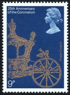 GB. 1978 9p Stamp, 25th Anniversary of the Coronation, State Coach - Unmounted.