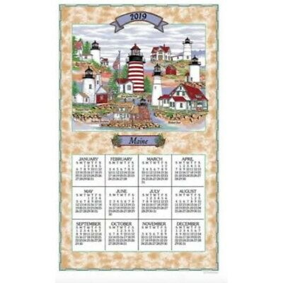 2019 Maine Lighthouses Towel Calendar, Kitchen Towel by Kay Dee Designs