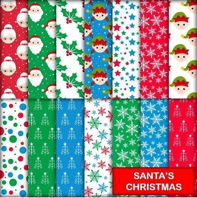 SANTA'S CHRISTMAS SCRAPBOOK PAPER - 14 x A4 pages