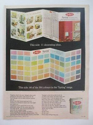 Vintage Australian advertising 1965 ad DULUX SPRING COLOUR RANGE chart art