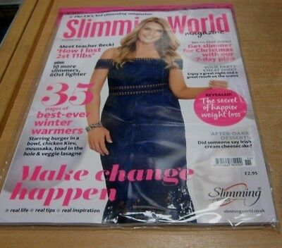 Slimming World magazine NOV/DEC 2018 Make Change Happen, Winter Warmer Recipes &