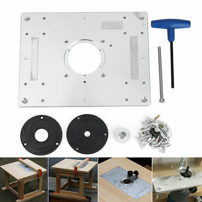 New Aluminum Router Table Insert Plate 279 x 235 x 9mm With Ring For Woodworking