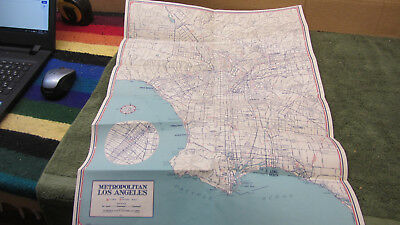 Aaa California Map.Vintage Aaa Map Of Metropolitan Los Angeles Ca 4 99 Picclick