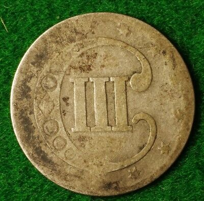 USA Silver 3 cent dated 1852 in Gap filler condition - FREE UK POSTAGE