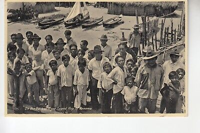 On the Dock of Tigre Island Panama mailed from Ancon Canal Zone