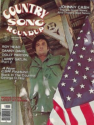 COUNTRY SONG ROUNDUP - JOHNNY CASH, ROY HEAD, DOLLY PARTON - Sept 1976 Issue
