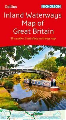 Collins Nicholson Inland Waterways Map of Great Britain 9780008146535