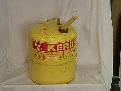 Retro 5 1/4 Gallon Gelb Kerosin Sears Craftsman Chilton 9-82079