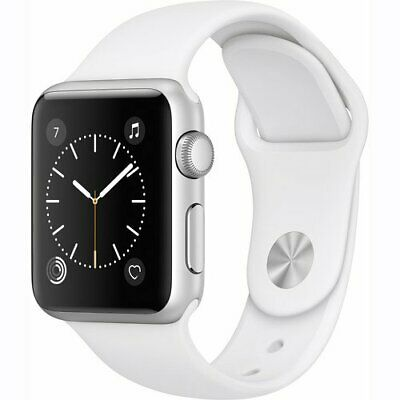 Apple Series 1 38mm Sport Band Smart Watch - White (MNNG2LL/A)