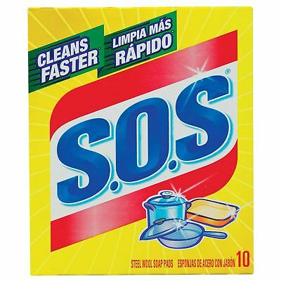 S.O.S 10002 S.O.S Steel Wool Soap Pads 10-count