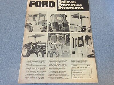 Ford Rollover Proctive Structures Sales Brochure  !
