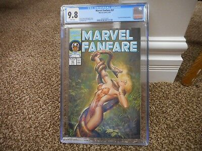 Marvel Fanfare 57 cgc 9.8 GREAT Shanna cover by Joe Chiodo 1991 MINT Sheena