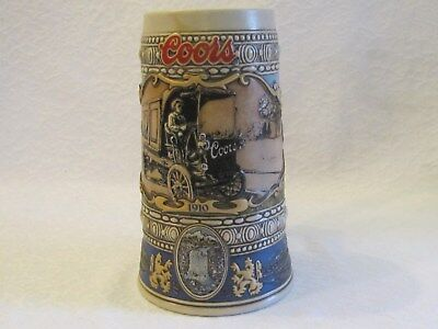 Coors Brewery 1989 Beer Stein Mug 1910 Truck Delivery