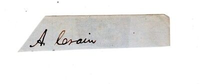 President Abraham Lincoln, two words in his hand, from legal writ