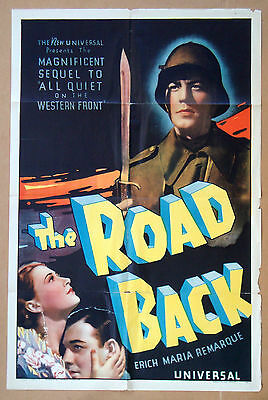 ROAD BACK All Quiet on the Western Front WWI James Whale 1937 27x41 POSTER