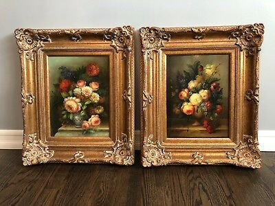 "2 PIECE, Wide Ornate Gold Traditional Decorative Victorian Picture Frame 16""x12"""