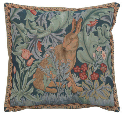 Rabbit As William Morris 2 French Tapestry Cushion Pillow Cover Fine Art Decor