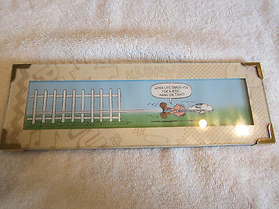 "Hallmark Peanuts Gallery ""hanging On!""...2000...nib"