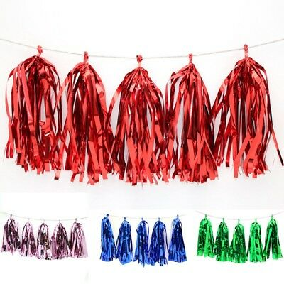 Tissue Paper Tassels Garlands DIY Colorful Wedding Party Props Home Decor 5pcs