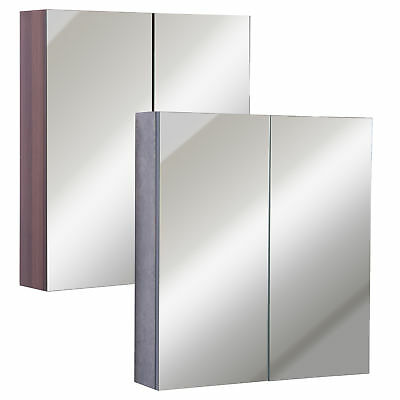 Wall-Mount LED Bathroom Mirrored Cabinet Storage Closet Illuminated 63W x 68H cm