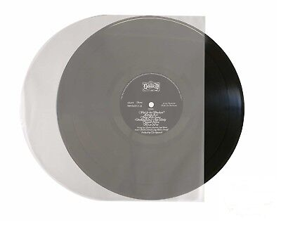"""50-pk 12"""" 33rpm Rounded Clear/Opaque LP Vinyl Record inner Sleeves Round Bottom"""