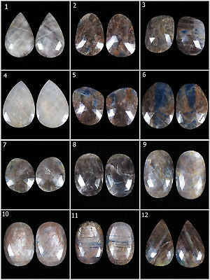 100% Natural Unheated Multi/Bi-Color Sapphire Matched Pairs -Many Shapes & Sizes