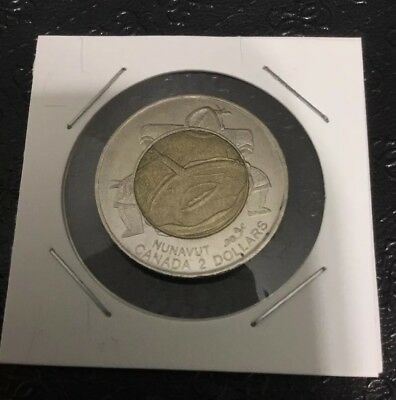 1999 Nunavut Province Toonie 2$ Canada dollar coin (+Combined shipping)