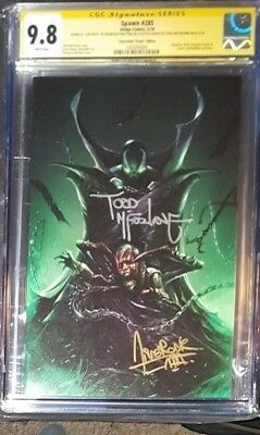 Spawn #285 Con Virgin variant limited to 666_CGC 9.8 SS_Signed Mattina McFarlane