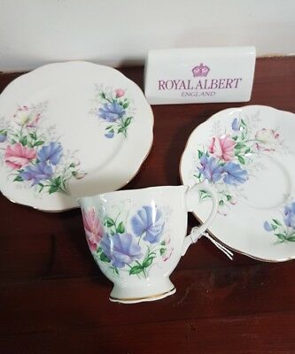 Royal Albert Vintage  'SWEET PEA'' Tea Trio  Made in  England circa 1950