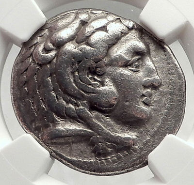 ALEXANDER III the GREAT Lifetime TETRADRACHM 325BC Silver Greek Coin NGC i73058