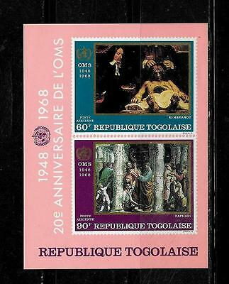 TOGO SC #C94a AIR MAIL WHO MNH-MINT SOUVENIR SHEET SINGLE STAMP