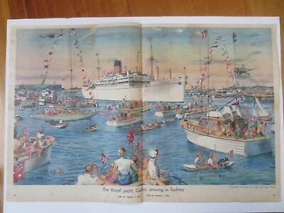 Vintage Australian advertising 1954 ad GOTHIC ROYAL YACHT SYDNEY john mills art