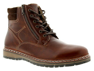 Red Tape Sawston Wood Mens Leather Formal Boots Brown UK Size