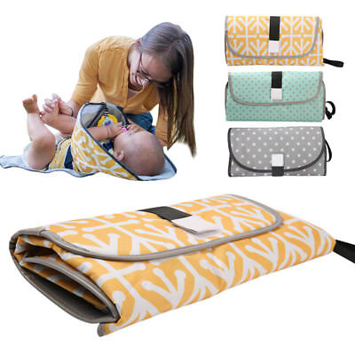 Waterproof Baby Foldable Diaper Changing Mat Travel Home Change Pad 3-in-1