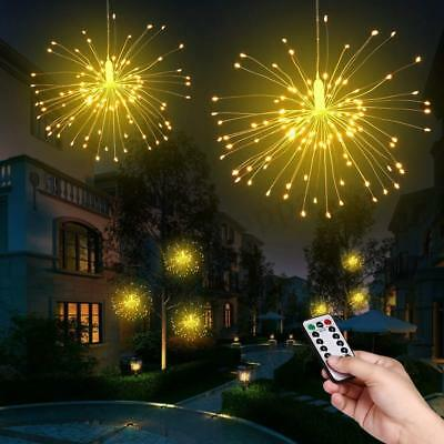 Firework LED Copper Wire Strip String Fairy Light Wedding Party Decor W/ Control