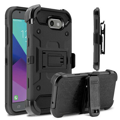 Hybrid Rugged Armor Shockproof Holster Case Heavy Duty Stand Cover Belt Clip