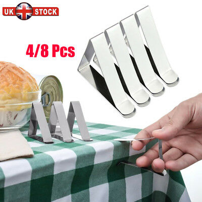 8X British Steel Table Cloth Cover Clips Quality Metal Pegs Clamps Picnic Prom