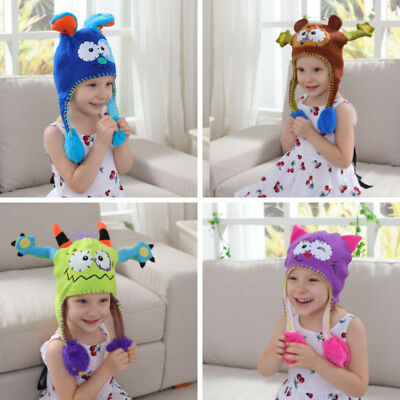 Children Animal Cute And Funny Winter Hat With Movable Animal Ears/Tail